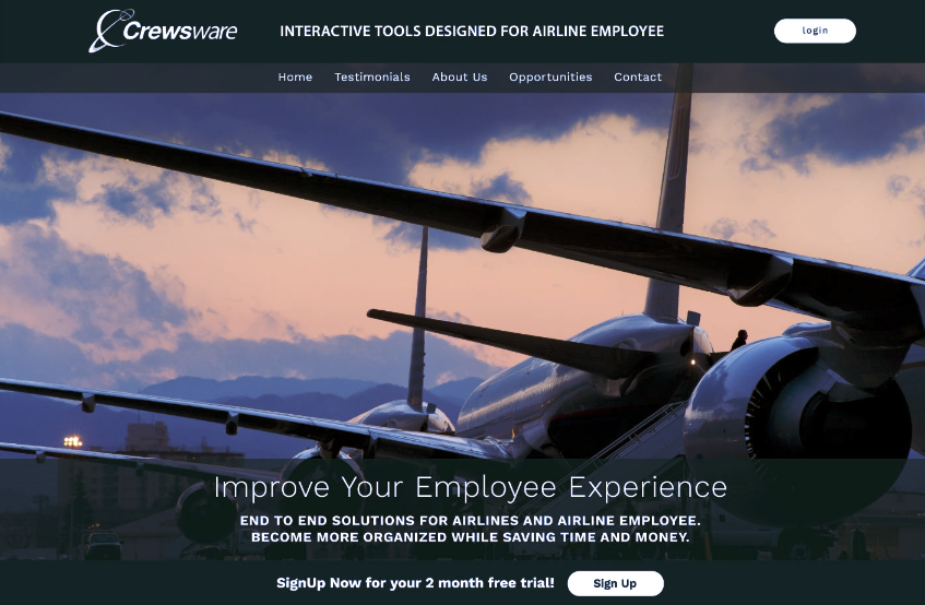 Crewsware Software website redesign