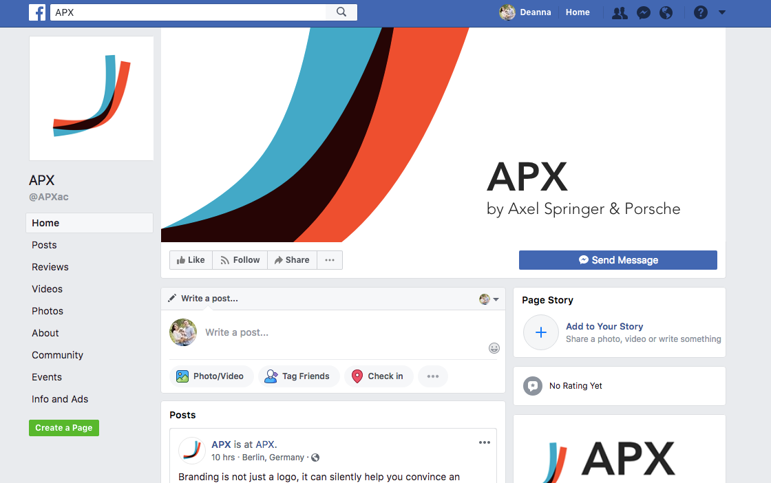 APX Facebook page