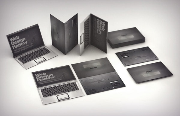 Web design 3d business card