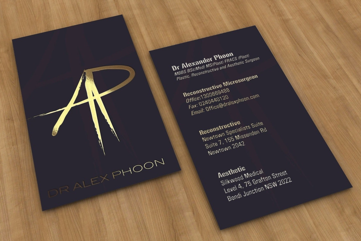 Dr. Alex Phoon business card design