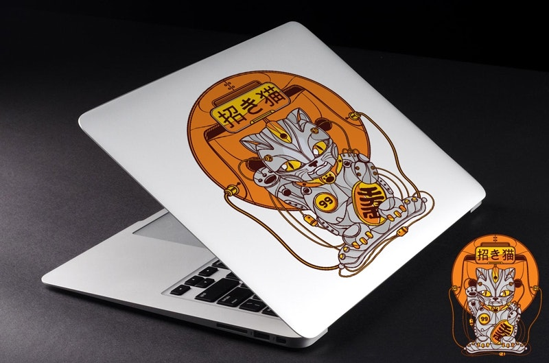 Cat laptop decal