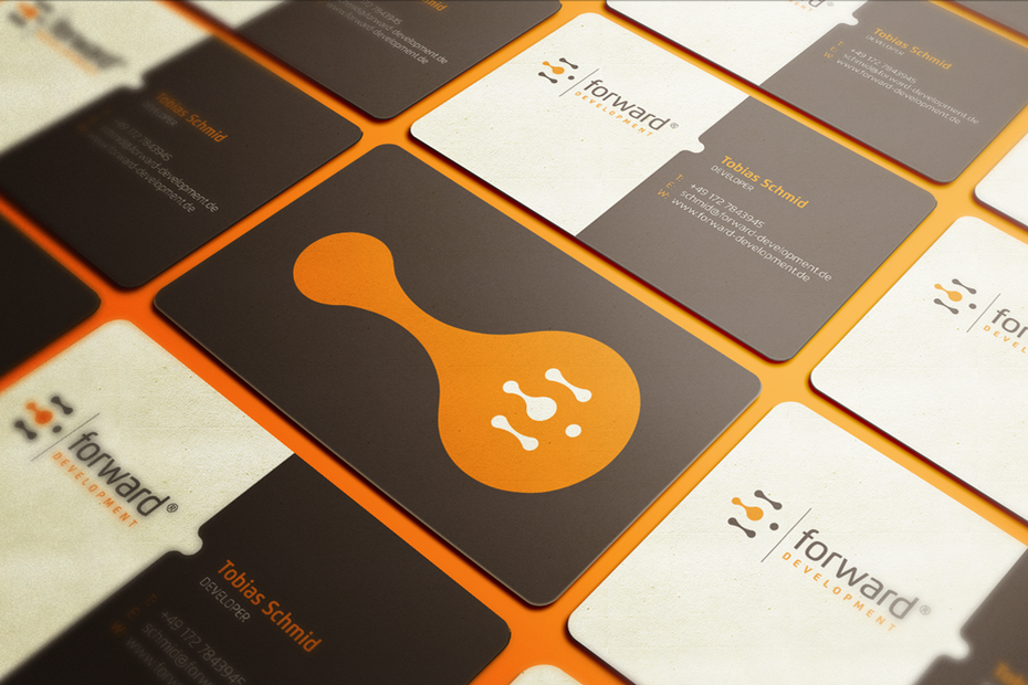 38 unique business cards that will make you stand out 99designs forward development business card colourmoves