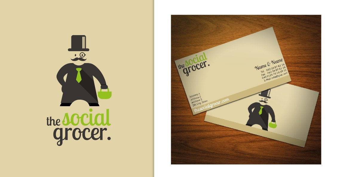 The Social Grocer business card