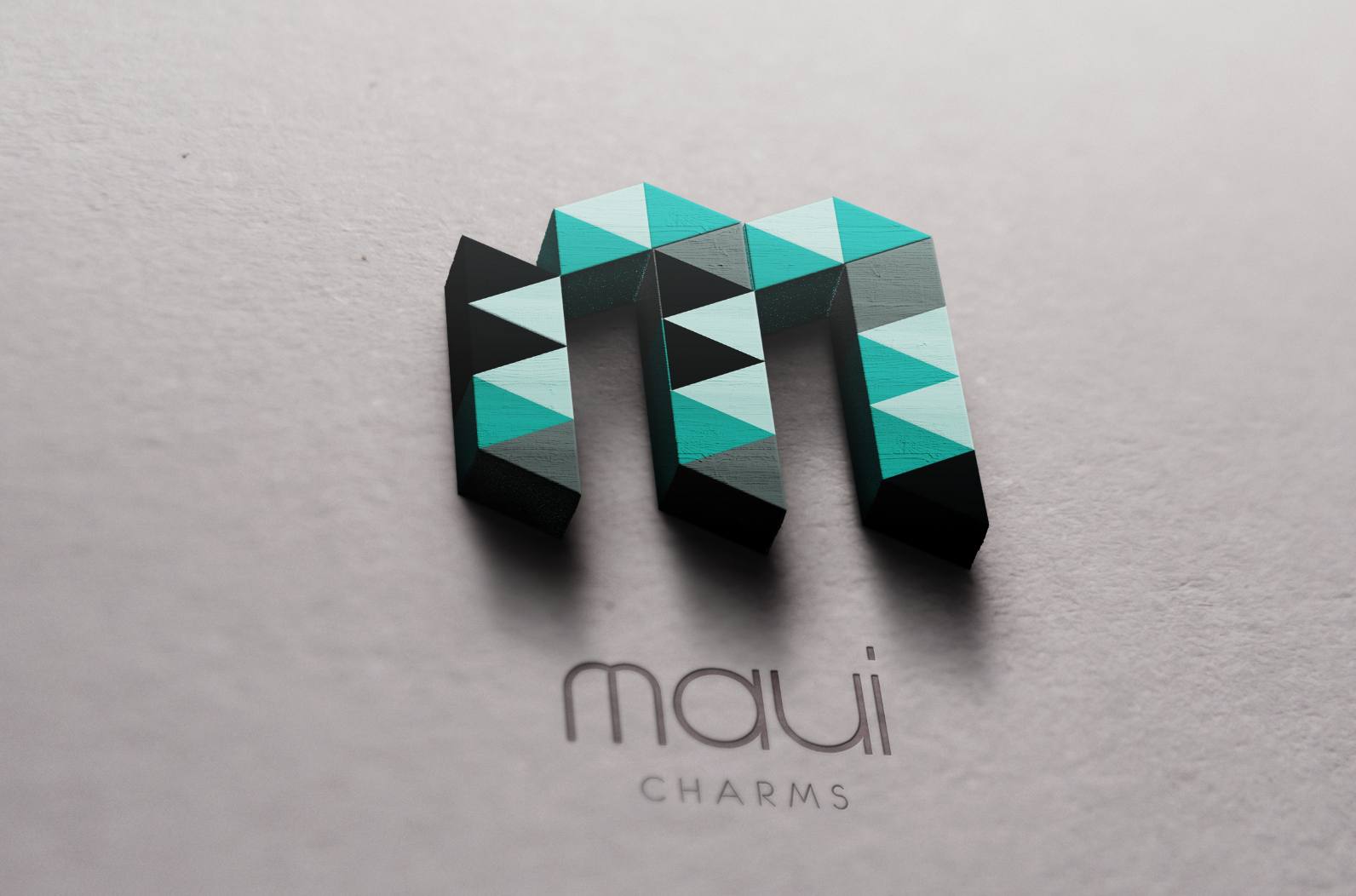 3D charms logo design