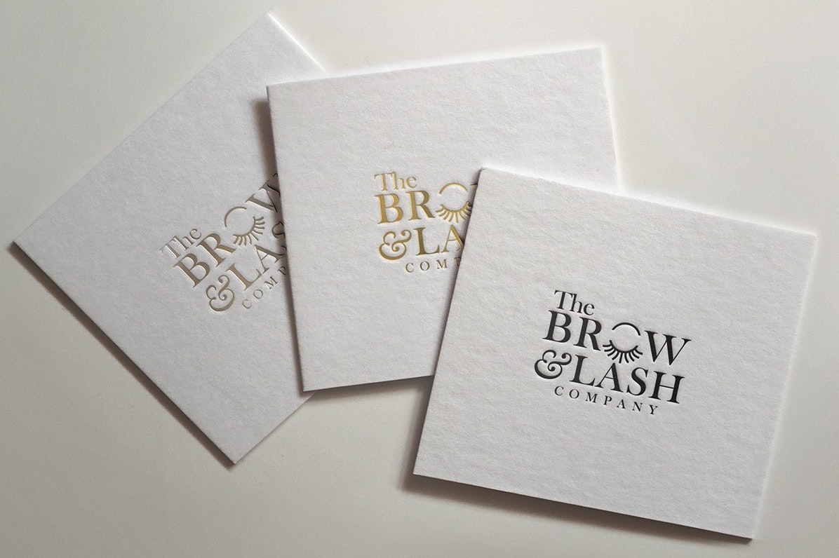 Graphic beauty business card