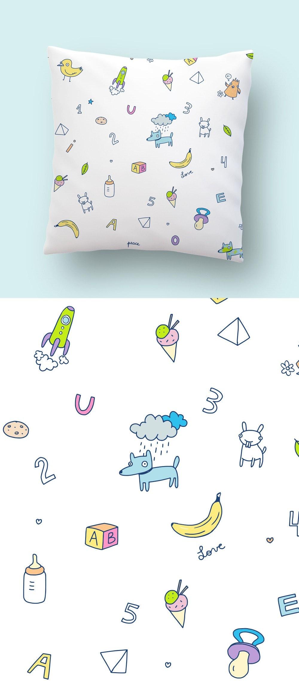 A children's pillow design