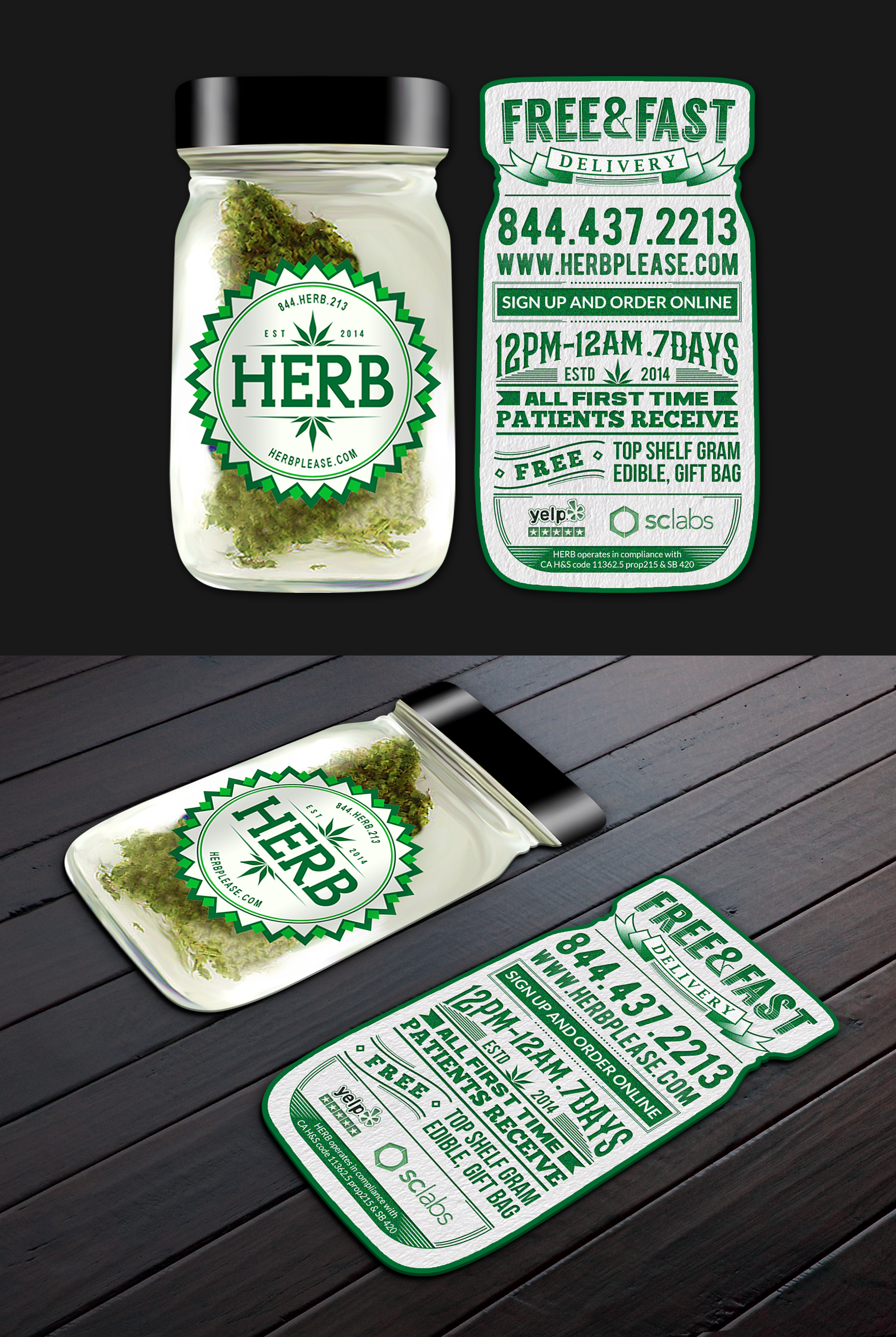 Herb business card