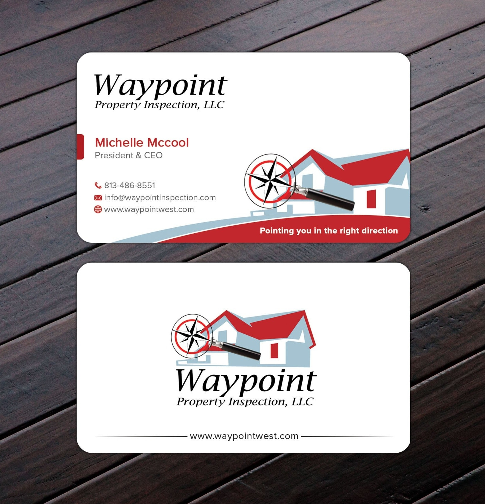 Waypoint Property Inspection business card
