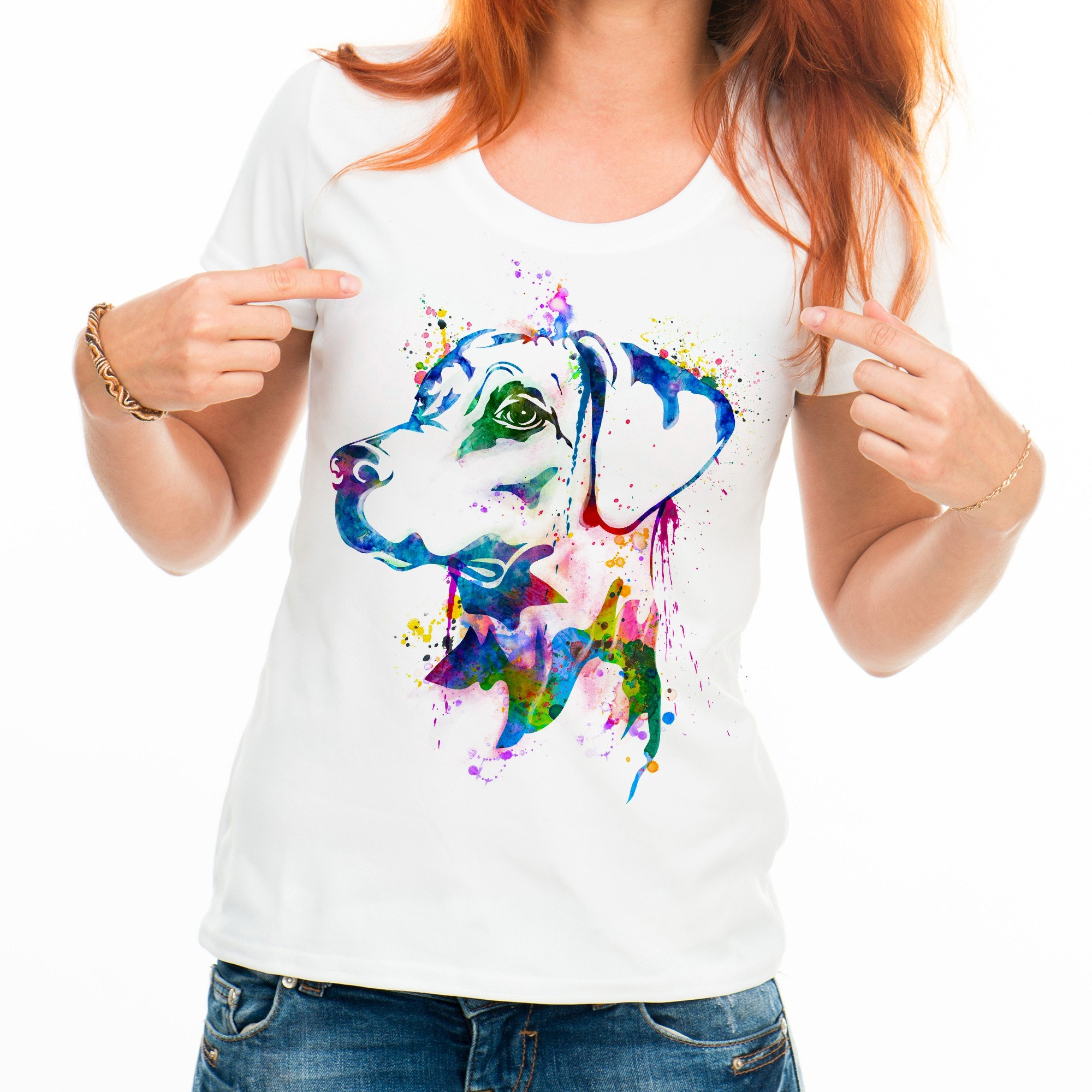 Watercolor dog t-shirt