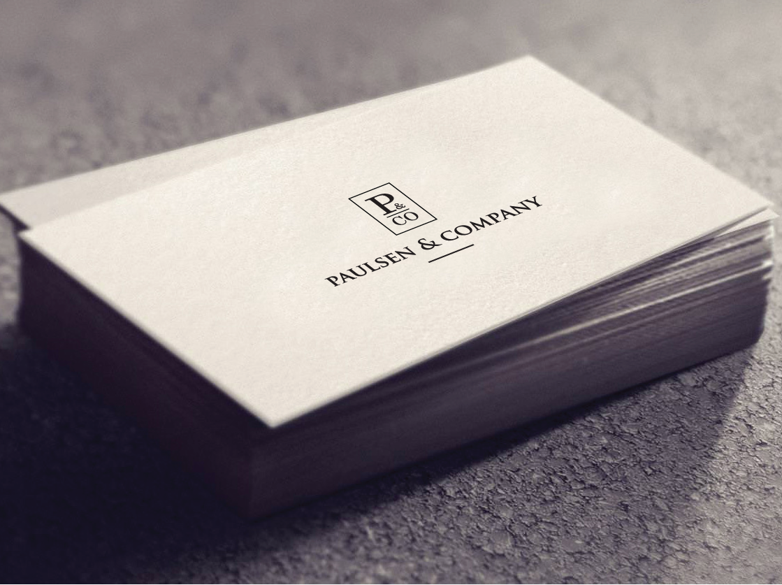Paulsen & Company business card