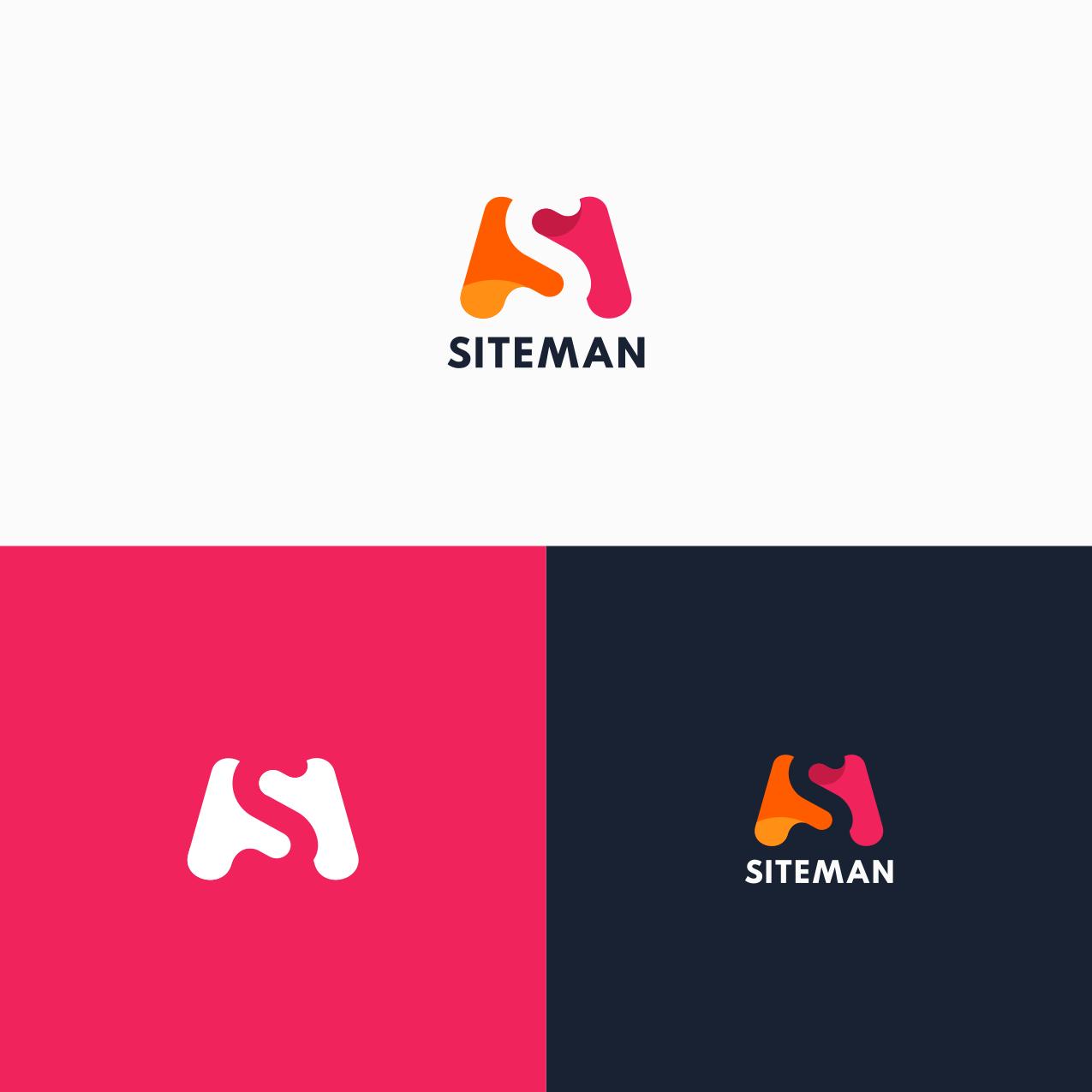 A logo design using negative space