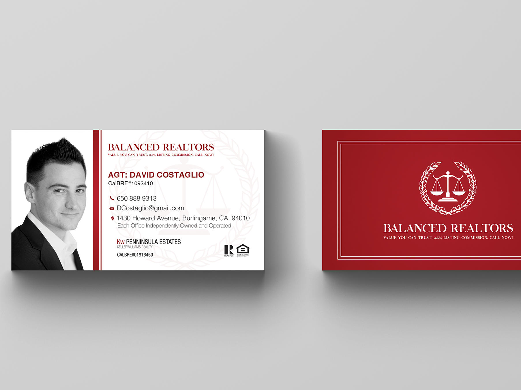 Balanced Realtors Business Card
