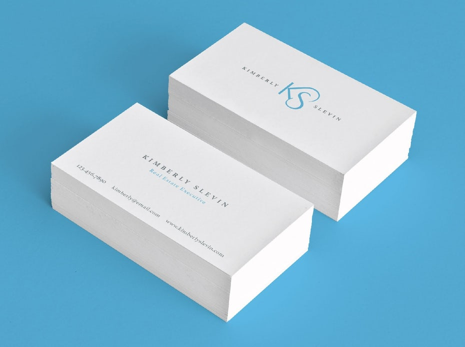 kimberly slevin business cards - Real Estate Business Cards
