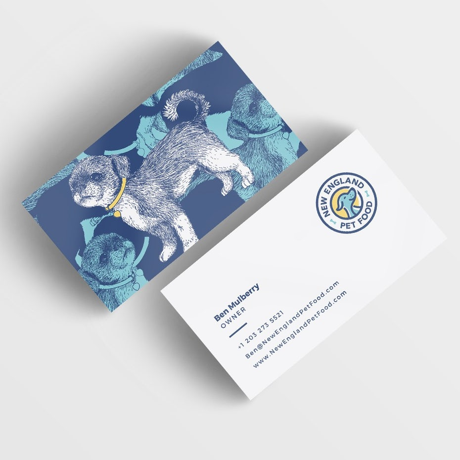 38 unique business cards that will make you stand out 99designs puppy business card reheart Choice Image