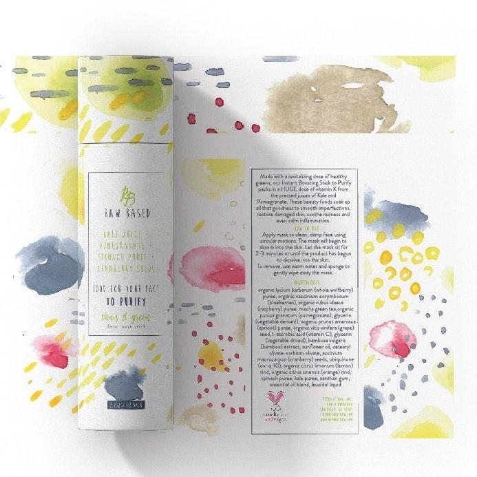 Watercolor skincare packaging
