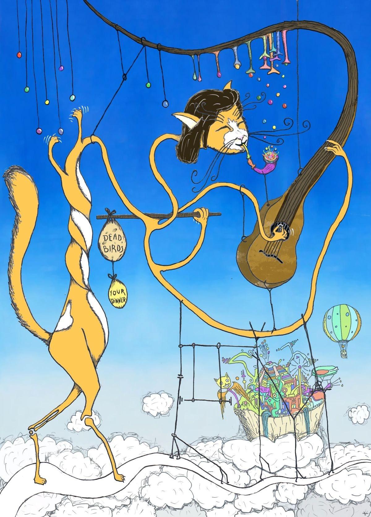 dream-like magical cat