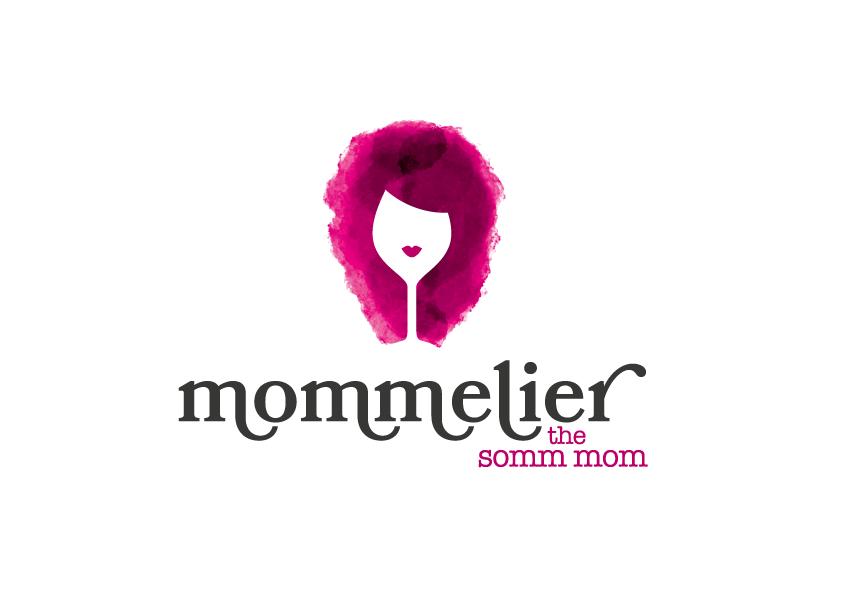 Watercolor wine logo