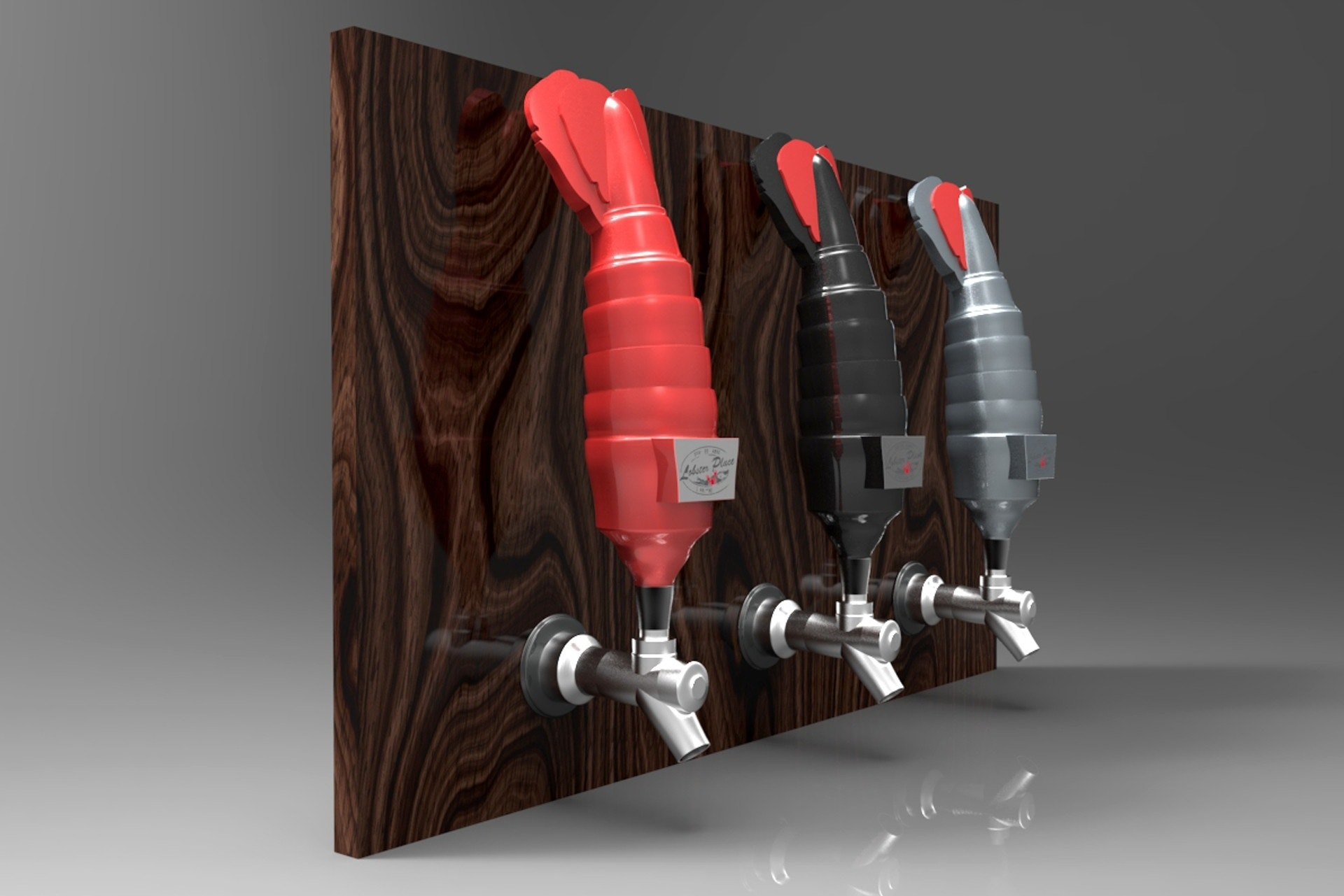 lobster beer tap design