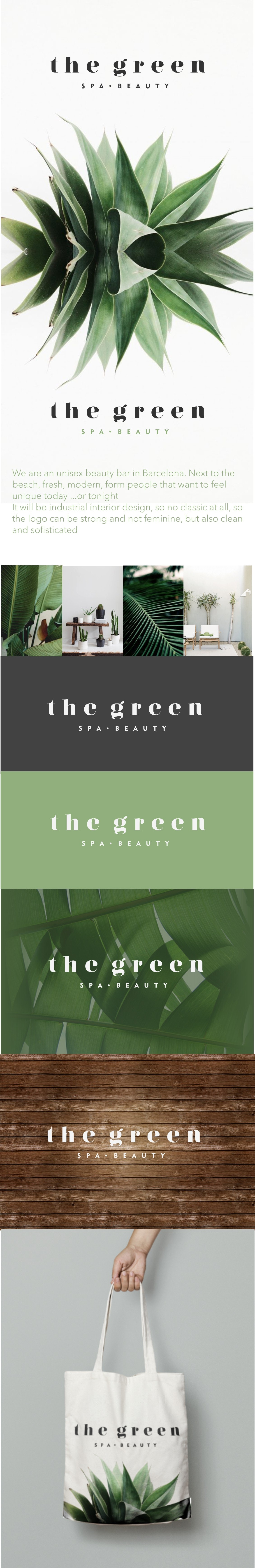 The Green Spa and Beauty logo