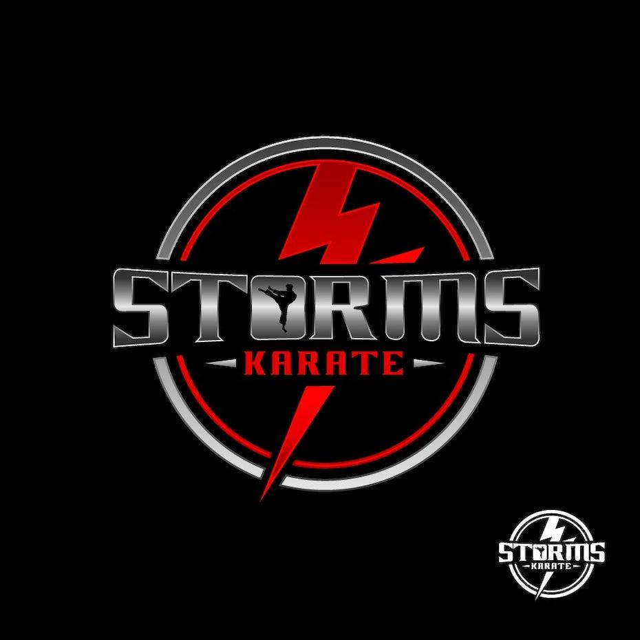 Karate studio logo