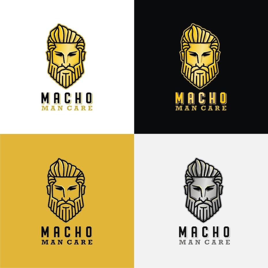 Macho man care logo