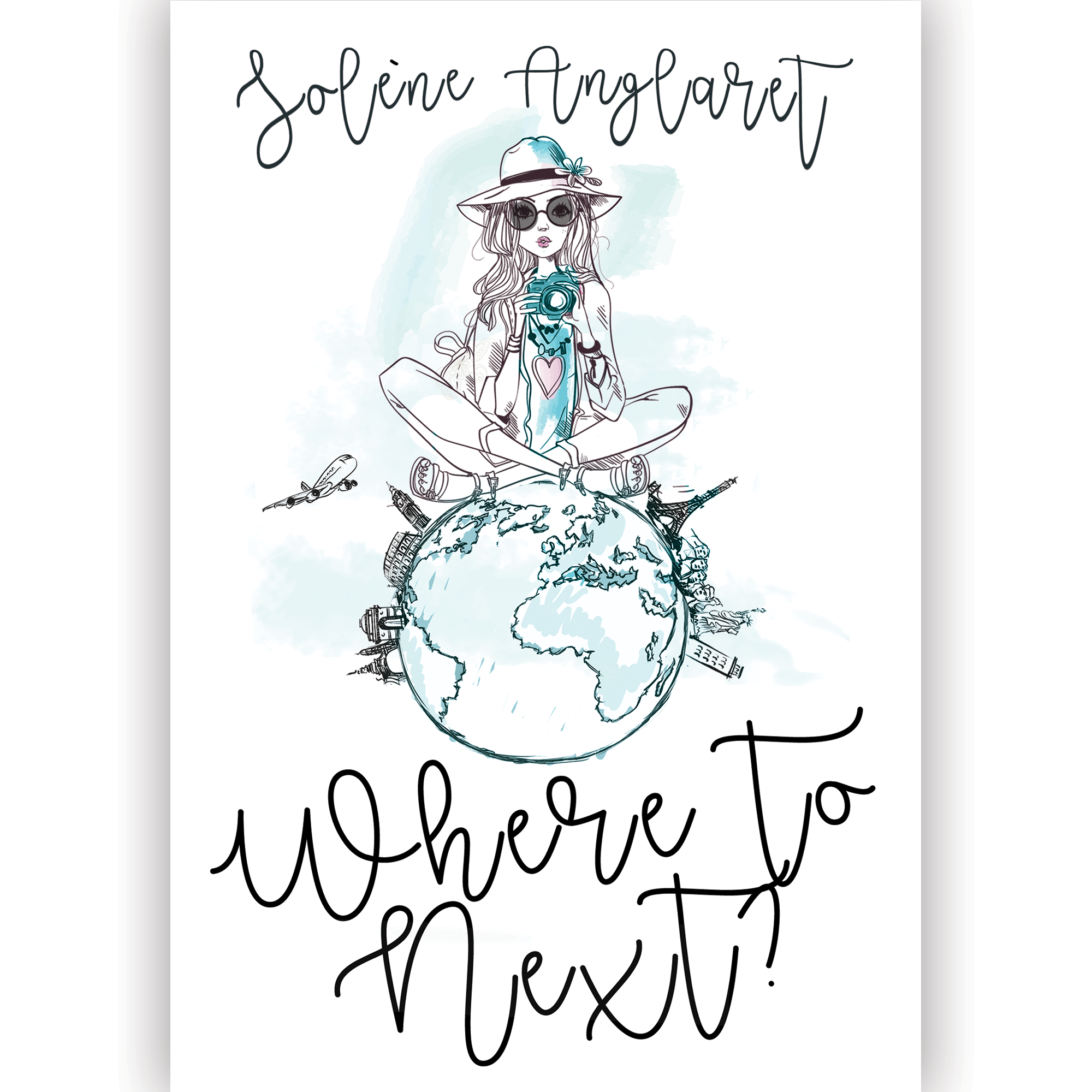 Travel watercolor book cover
