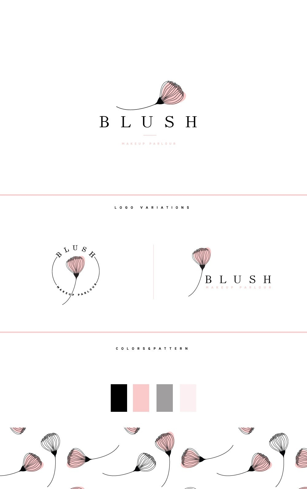 Blush Makeup Parlour logo