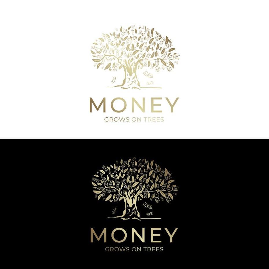 Golden tree logo