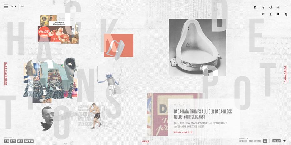 random asymmetric surreal web design