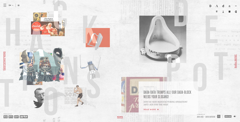 random asymmetric surreal web design