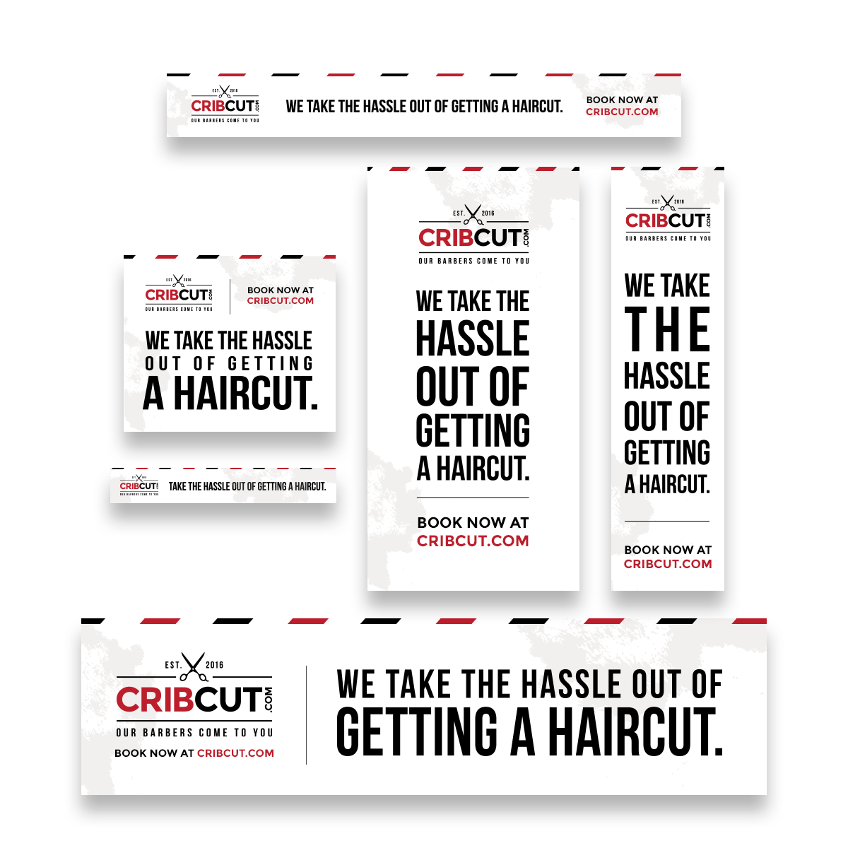 Haircut banner ad design