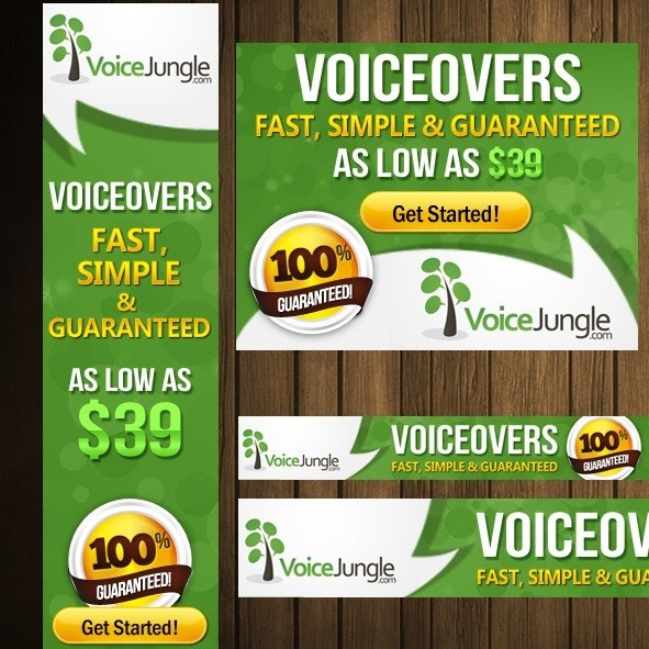 VoiceJungle banner ad design