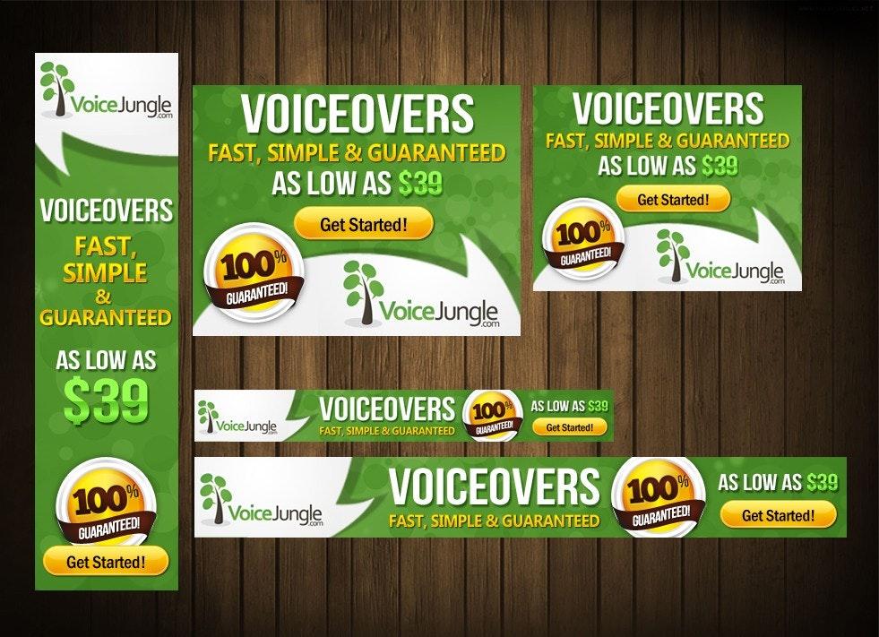 VoiceJungle banner ad design