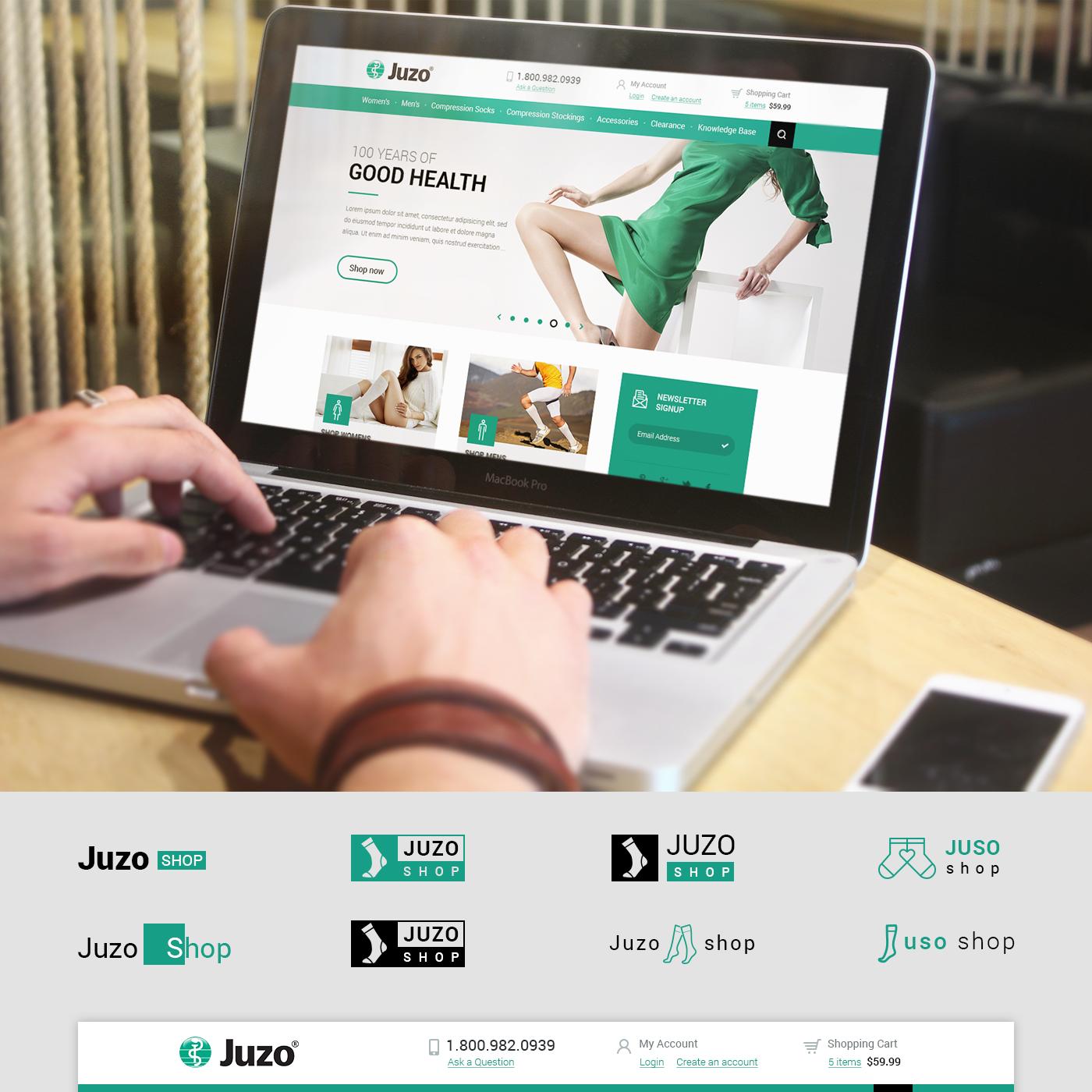 JuzoShop.com website design