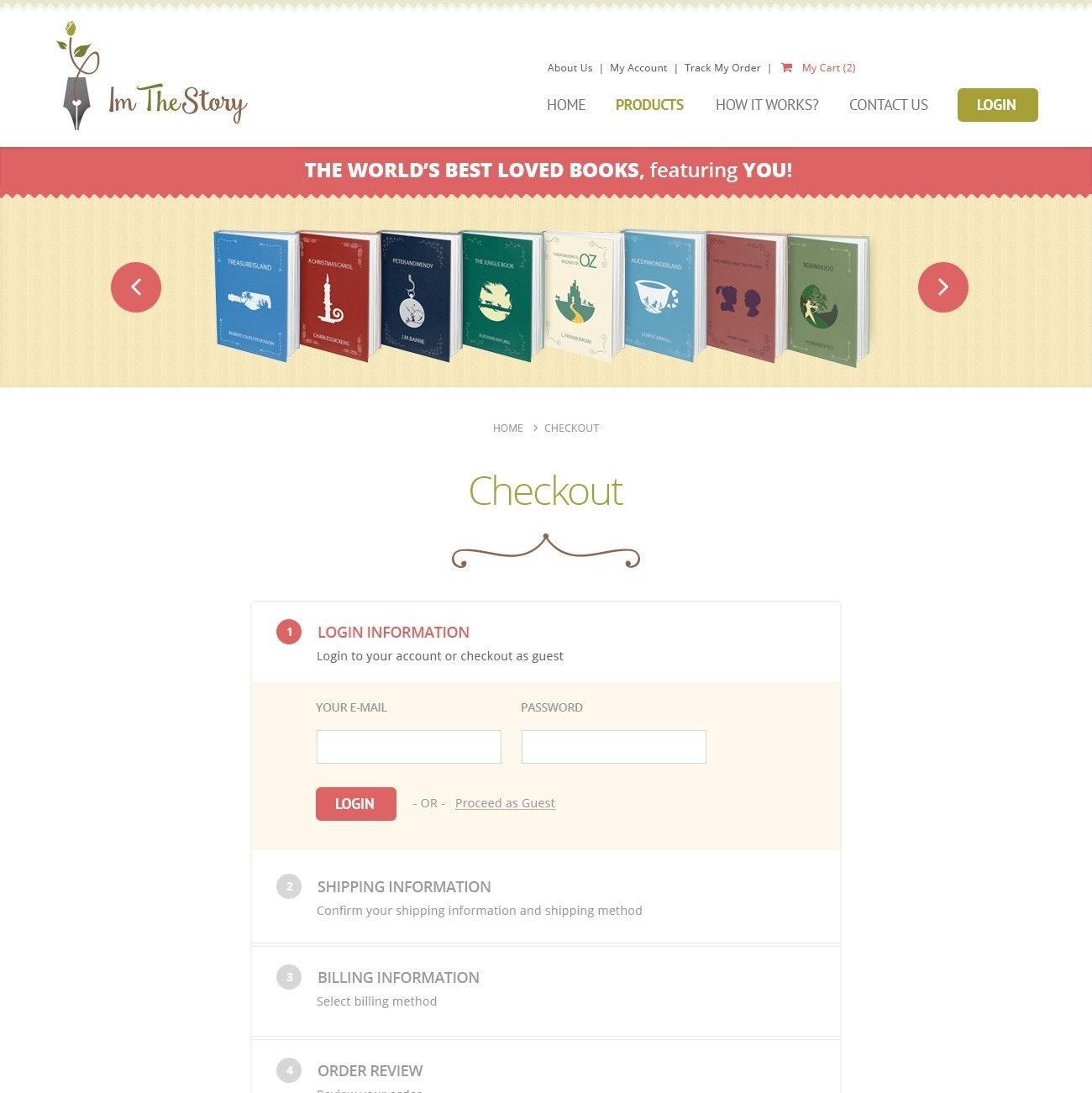 I'm The Story website design