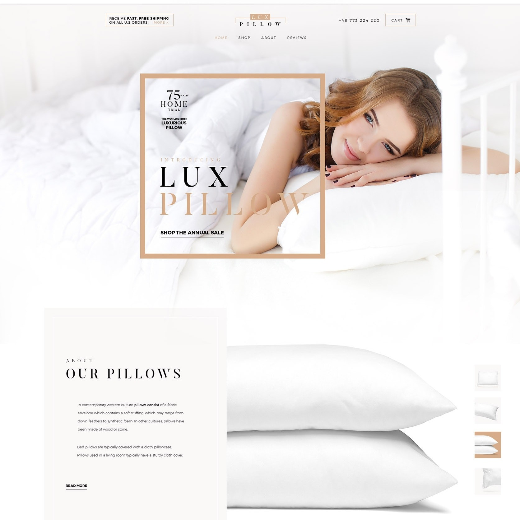 Pillow website design