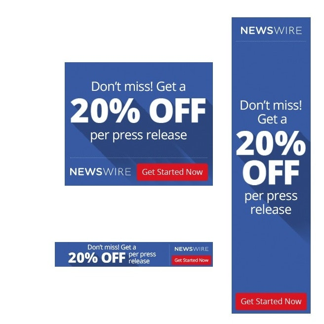 NewsWire banner ad design