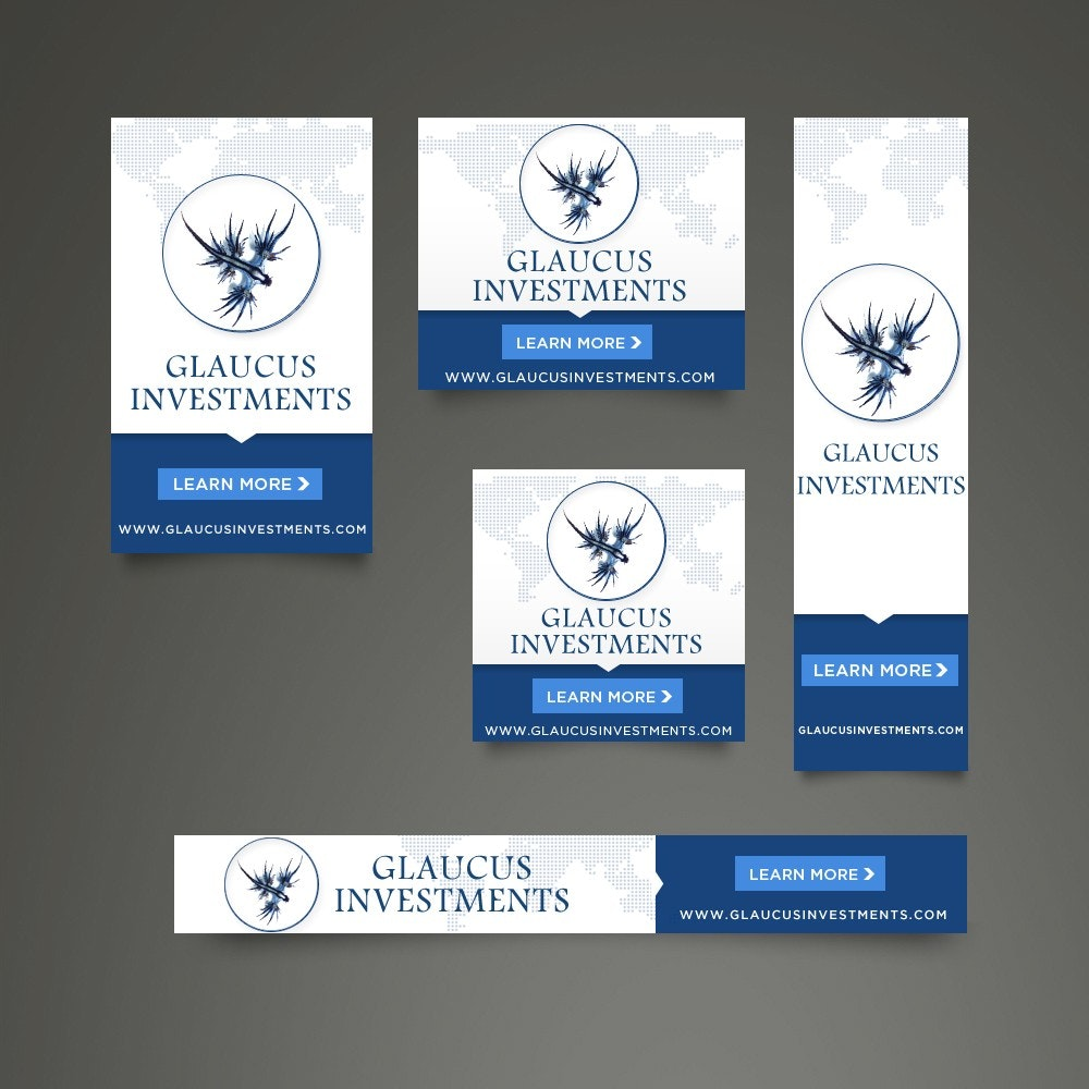 Glaucus Investments banner ad design