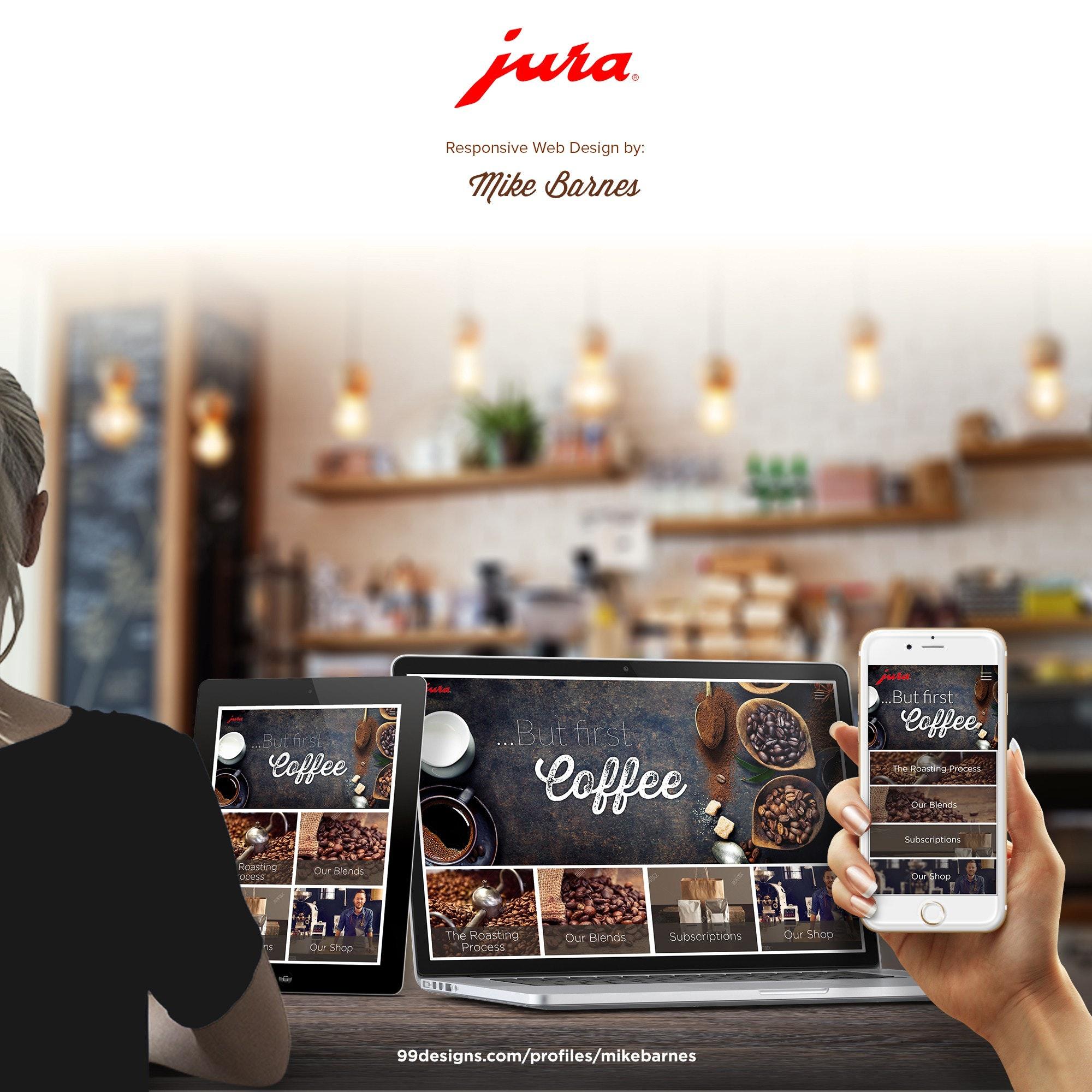 Coffee ecommerce website design