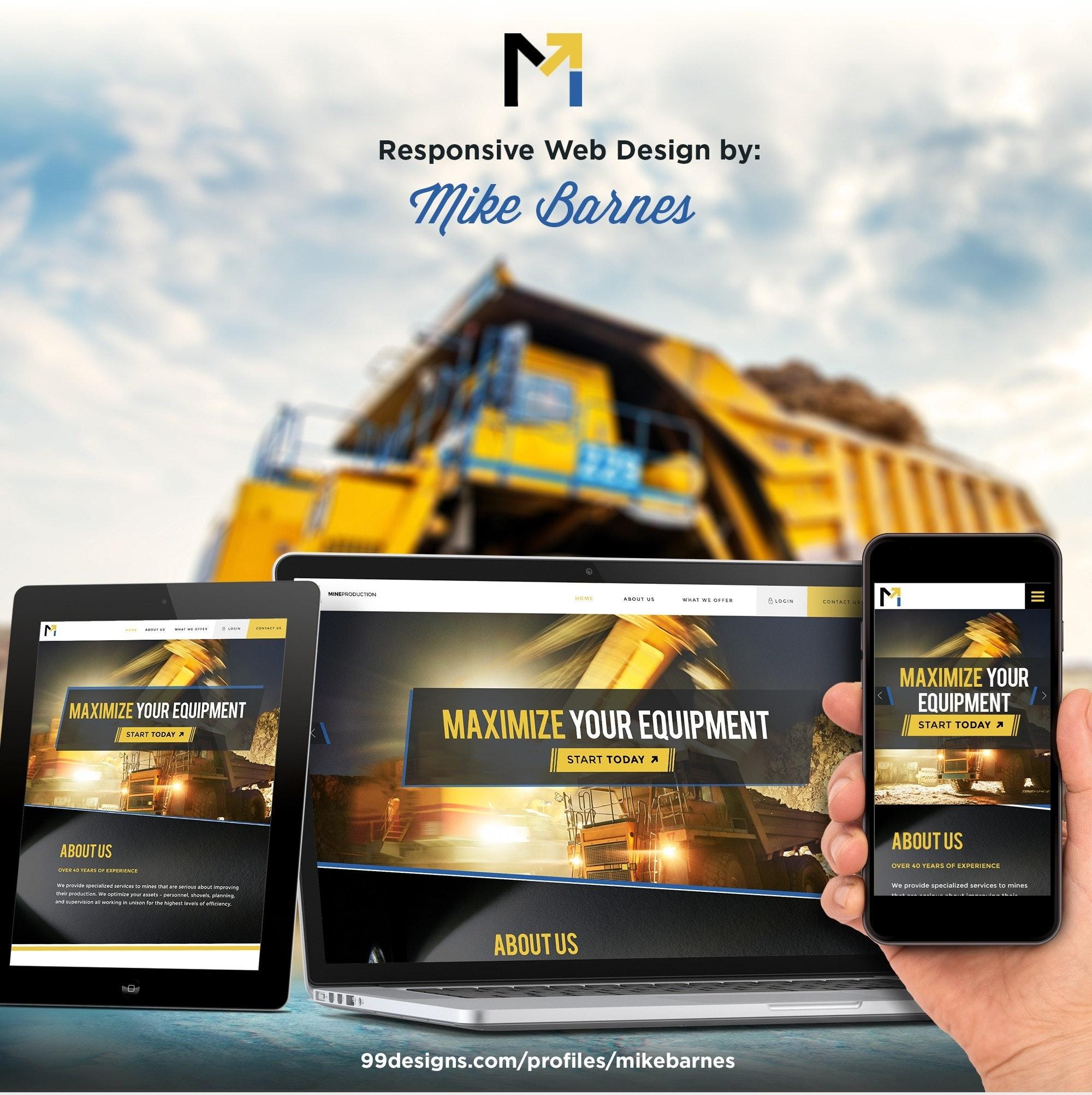 Mineproduction.com website design