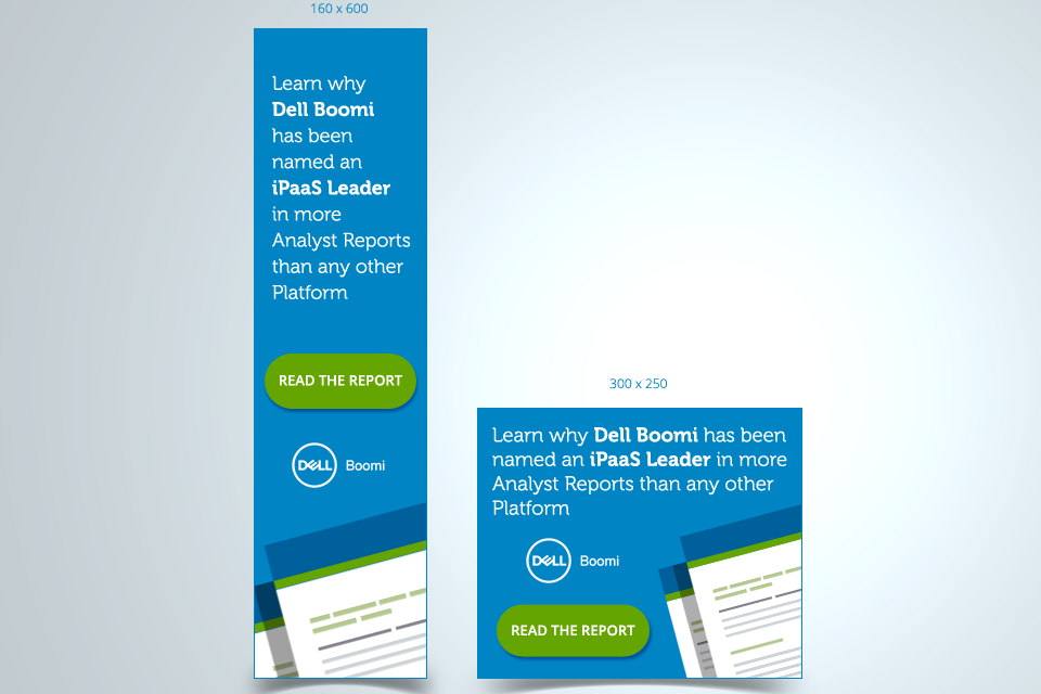 Dell Boomi Banner ad design