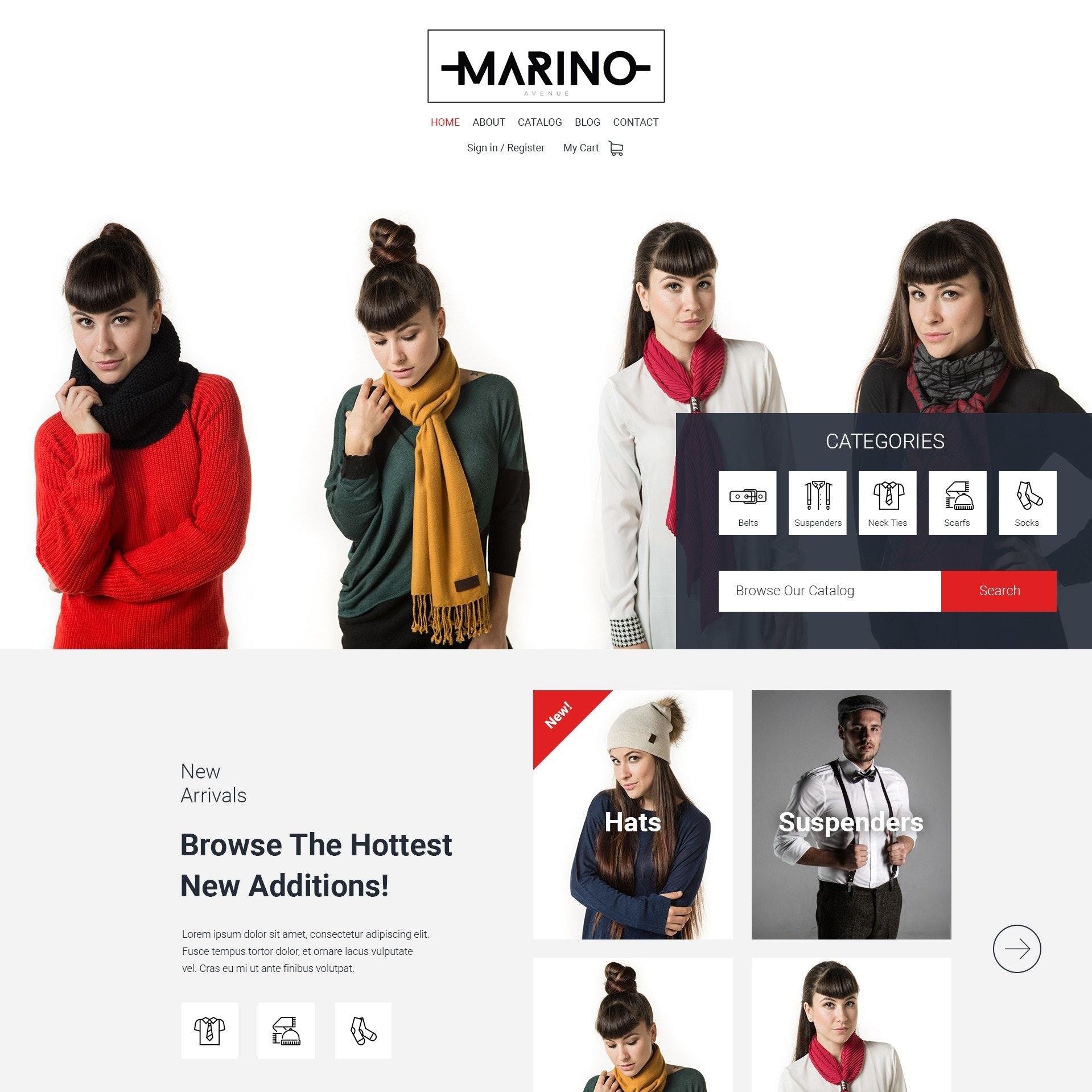 Women's fashion website design