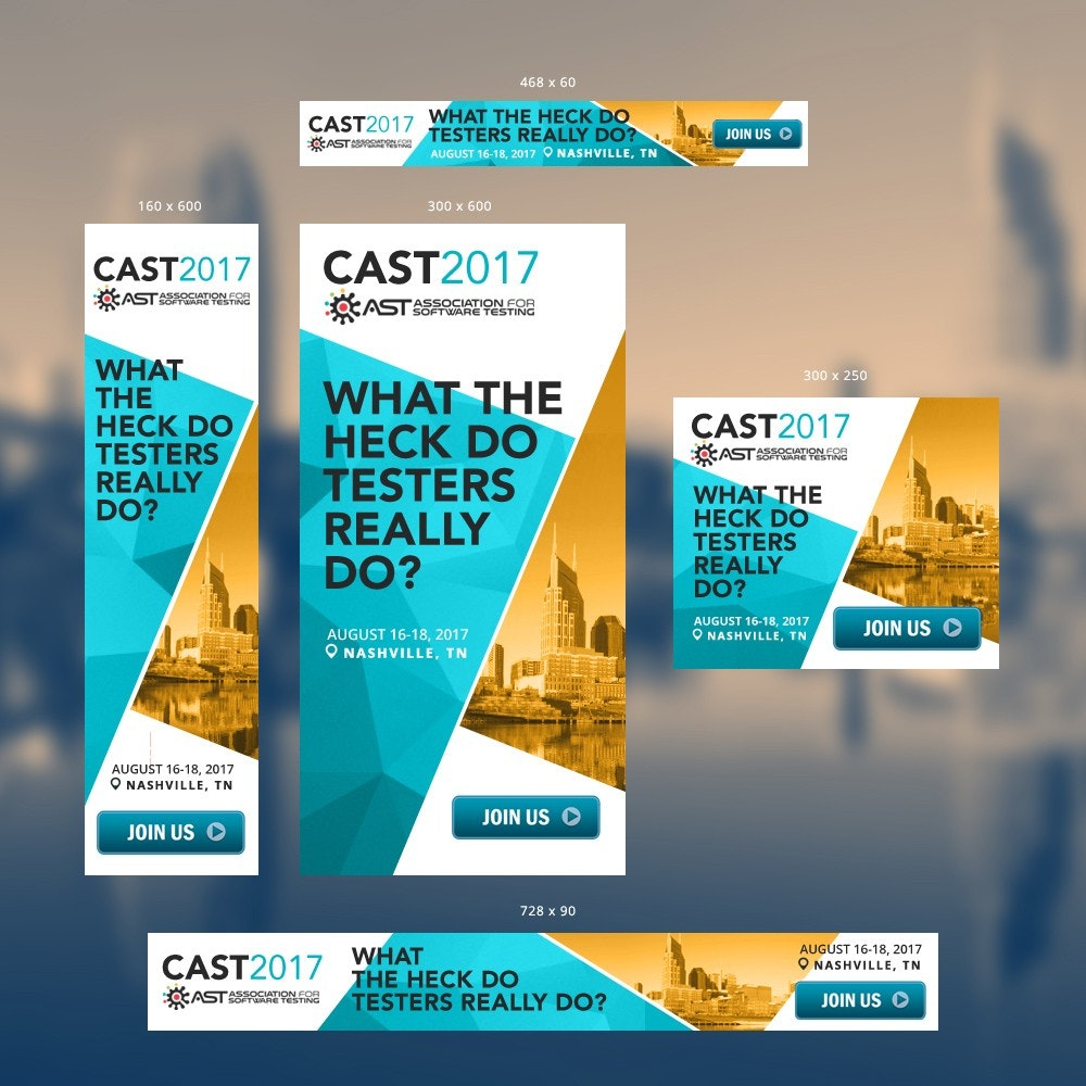 CAST 2017 Banner ad design