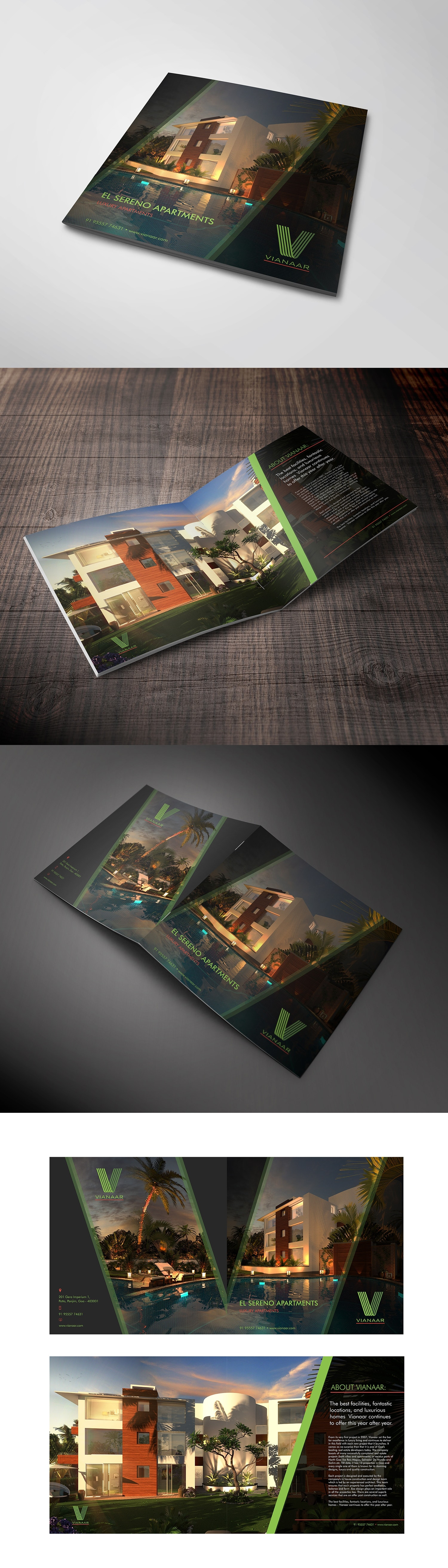 Luxury real estate brochure