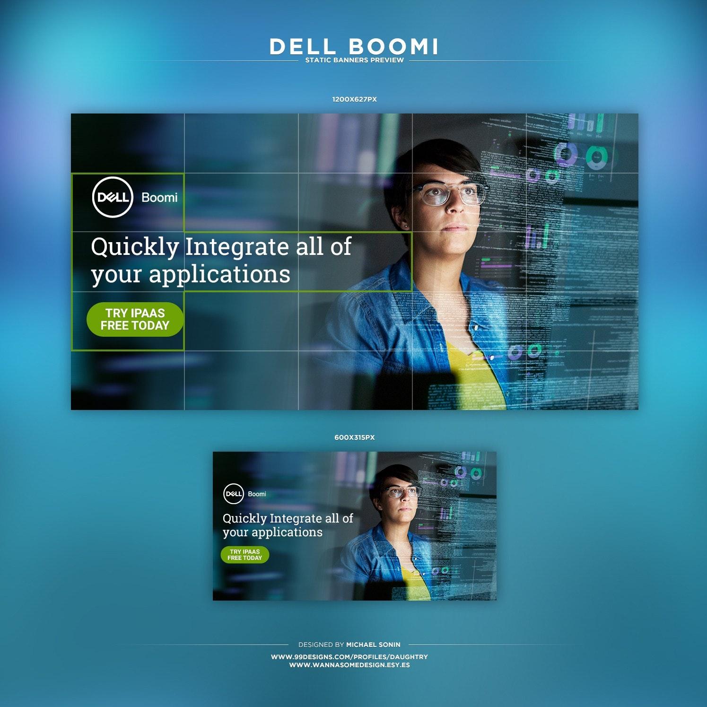 Dell Boomi banner ad design