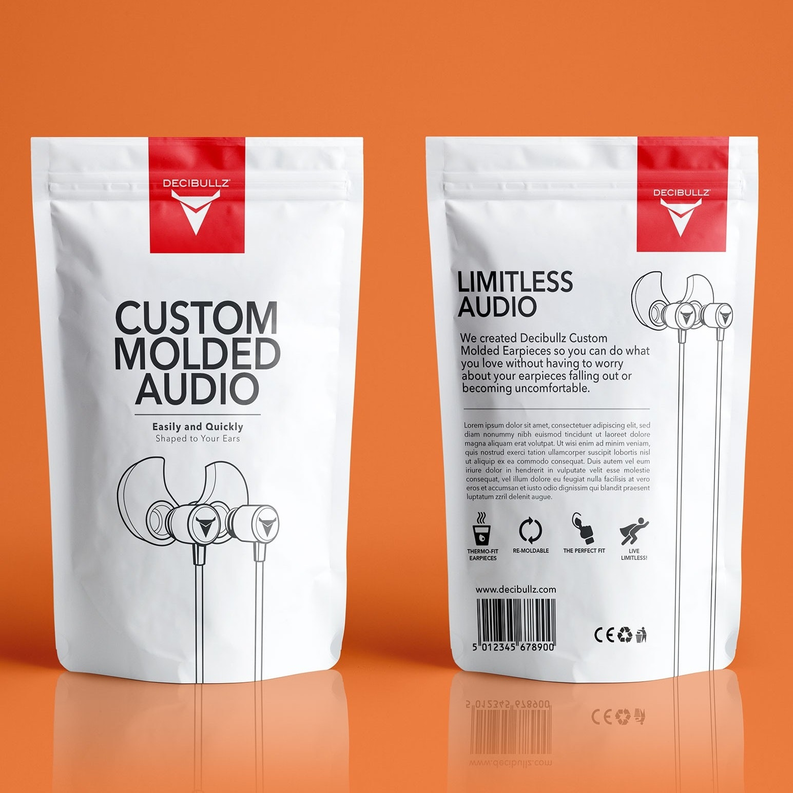 Custom molded audio headphones packaging