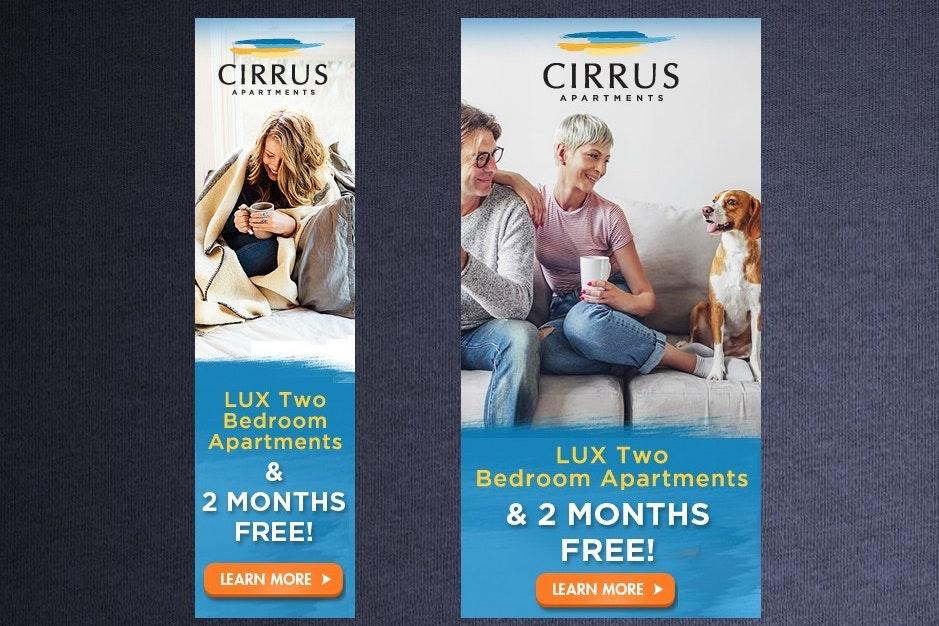 Cirrus Apartments banner ad design