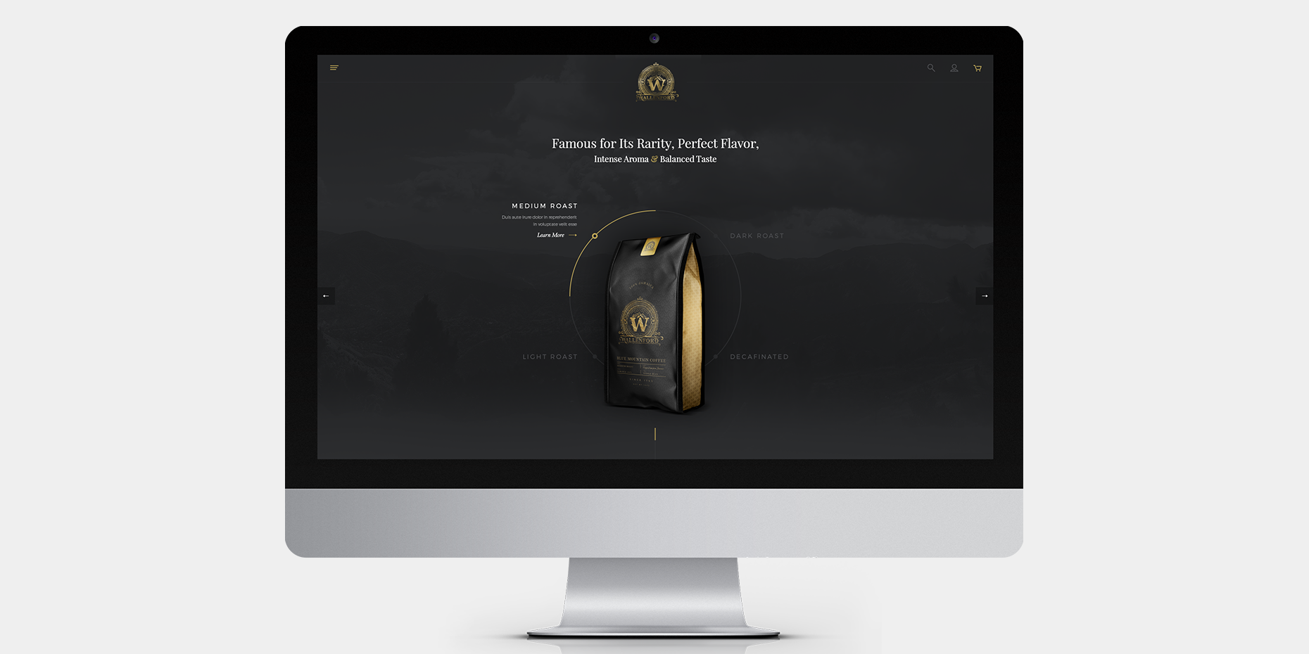 Kaffee Website-Design