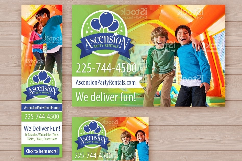 scension Party Rentals banner ad design