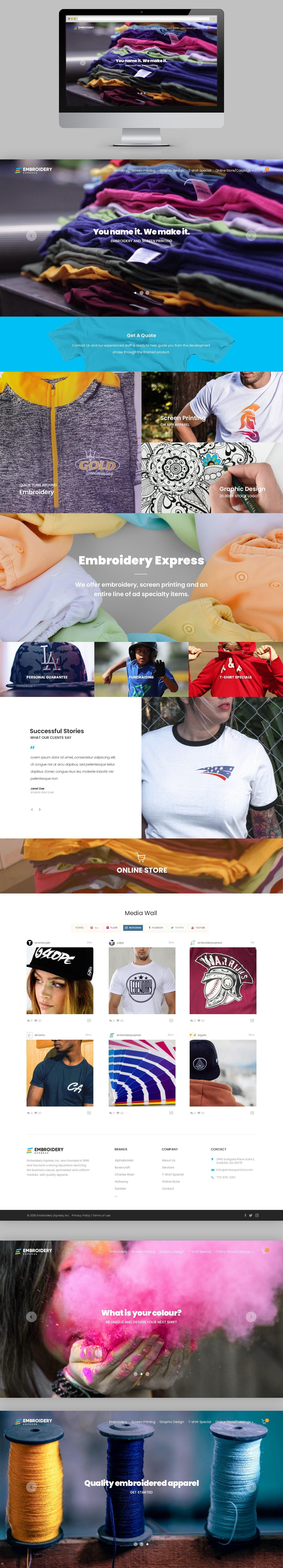 Clothing website design